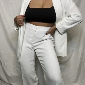 Vintage White High Waisted Trousers